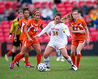 Maryland Women's Soccer vs Miami, October 28, 2012