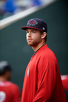 New Hampshire Fisher Cats pitcher T.J. Zeuch (28) during the first game of a doubleheader against the Harrisburg Senators on May 13, 2018 at FNB Field in Harrisburg, Pennsylvania.  Harrisburg defeated New Hampshire 2-1.  (Mike Janes/Four Seam Images)