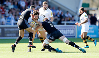 Photo: Richard Lane/Richard Lane Photography. Aviva Premiership. Newcastle Falcons v Wasps. 05/05/2018. Wasps' Ben Harris attacks.