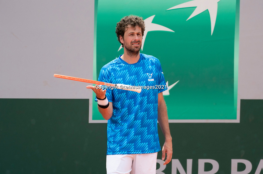 Paris, France, 1 june 2021, Tennis, French Open, Roland Garros, First round doubles match: Robin  Haase (NED) <br /> Photo: tennisimages.com