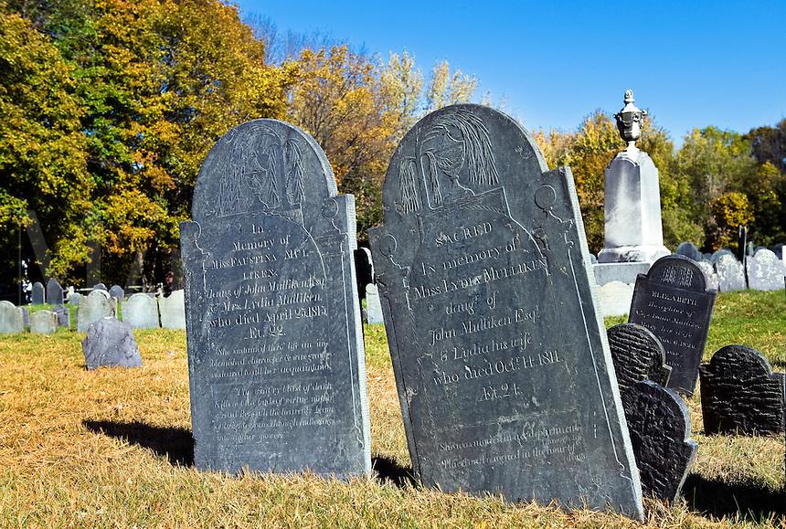 Cemetery, Lexington, MA, Massachusetts, USA