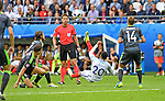 Dele Alli of England tries an overhead kick in the second half at the Stade Bollaert-Delelis in Lens, France this afternoon during their Euro 2016 Group B fixture against Wales.