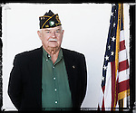 Veteran Gene Gathright poses for a photo at a Veterans Day Program at the Oxford Conference Center in Oxford, Miss. on Thursday, November 11, 2010.