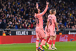 Lionel Messi of FC Barcelona celebrates his goal during the La Liga 2018-19 match between RDC Espanyol and FC Barcelona at Camp Nou on 08 December 2018 in Barcelona, Spain. Photo by Vicens Gimenez / Power Sport Images