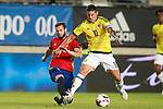Spain's Nacho Fernandez (l) and Colombia's James Rodriguez during international friendly match. June 7,2017.(ALTERPHOTOS/Acero)
