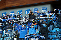 SAN JOSE, CA - MAY 15: San Jose Earthquakes supporters during a game between Portland Timbers and San Jose Earthquakes at PayPal Park on May 15, 2021 in San Jose, California.