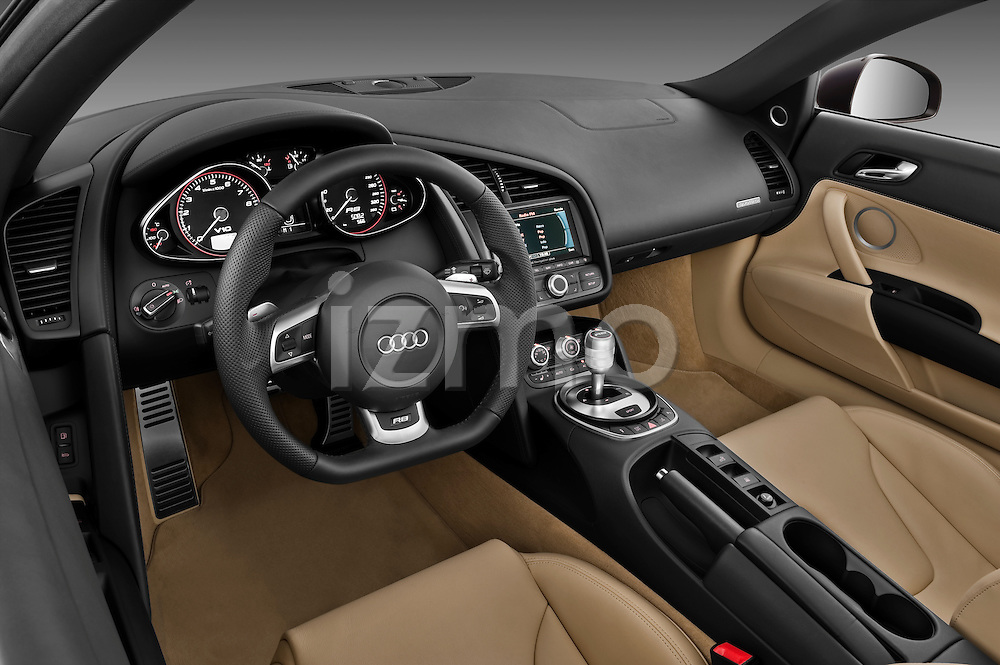 High angle dashboard view of a  2010 - 2012 Audi R8 Spyder v10 2 Door Convertible.