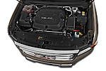 Car Stock 2015 GMC Canyon Slt 4 Door Pickup 2WD Engine high angle detail view