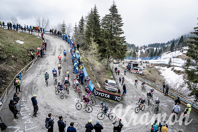 grupetto up the final part of the Monte Zoncolan <br /> <br /> 104th Giro d'Italia 2021 (2.UWT)<br /> Stage 14 from Cittadella›Monte Zoncolan (205km)<br /> <br /> ©kramon