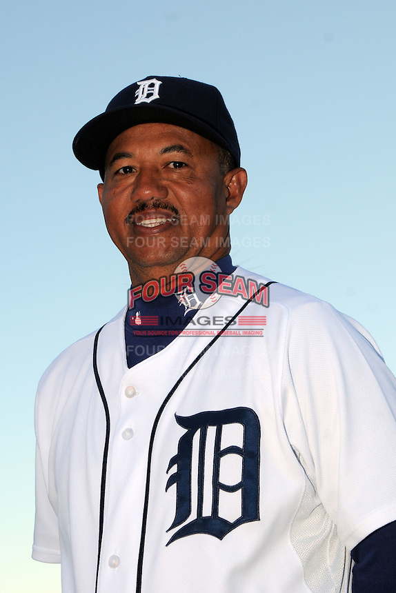 Feb 21, 2009; Lakeland, FL, USA; The Detroit Tigers coach Rafael Belliard (17) during photoday at Tigertown. Mandatory Credit: Tomasso De Rosa/ Four Seam Images