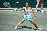 Sara Errani (ITA) defeats Jana Cepelova (SVK) 6-3, 7-6 at the Family Circle Cup in Charleston, South Carolina on April 8, 2015.