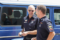 26th March 2021; Sakhir, Bahrain; F1 Grand Prix of Bahrain, Free Practice sessions;  HORNER Christian (gbr), Team Principal of Red Bull Racing,  NEWEY Adrian, Chief Technical Officer of Red Bull Racing, portrait during Formula 1 Gulf Air Bahrain Grand Prix