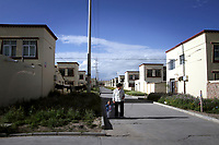 CHINA. A Tibetan community in Xihai Township, or 'Atomic City'. It was the place where China's first atomic bomb was made and tested, on the Qinghai-Tibet Plateau in western China. 2010