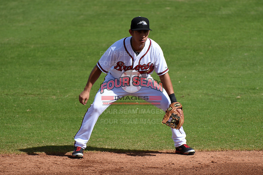 Peoria Javelinas infielder Daniel Castro (8) during an Arizona Fall League game against the Scottsdale Scorpions on October 18, 2014 at Surprise Stadium in Surprise, Arizona.  Peoria defeated Scottsdale 4-3.  (Mike Janes/Four Seam Images)