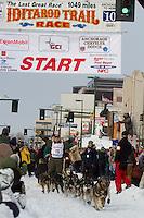 2010 Iditarod Ceremonial Start in Anchorage Alaska musher # 15 JEFF KING with Iditarider DARIAN STERNTHAL