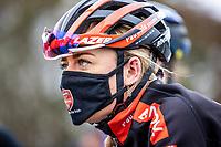 Denise Betsema (NED/Pauwels Sauzen-Bingoal) pre race <br /> <br /> Women's elite Race <br /> Zilvermeercross Mol (BEL) 2021<br /> <br /> ©Kramon