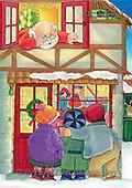 Interlitho, Soledad, CHRISTMAS CHILDREN, naive, paintings, santa, kids(KL2153/2,#XK#) Weihnachten, Navidad, illustrations, pinturas