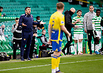 Celtic v St Johnstone…12.05.21  SPFL Celtic Park<br />Saints boss Callum Davidson appeals to referee Bobby Madden<br />Picture by Graeme Hart.<br />Copyright Perthshire Picture Agency<br />Tel: 01738 623350  Mobile: 07990 594431