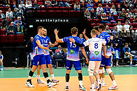 GRONINGEN - Volleybal, Lycurgus - SSS , Eredivisie, Martiniplaza, seizoen 2021-2022,  03-10-2021,  vreugde bij Lycurgus