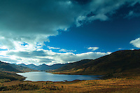Loch Arklet and the Arrochar Alps near Stronachlachar, Loch Lomond and the Trossachs National Park, Stirlingshire