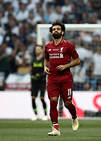 Liverpool's Mohamed Salah celebrates after scoring on a penalty kick during the UEFA Champions League final football match between Tottenham Hotspur and Liverpool at Madrid's Wanda Metropolitano Stadium, Spain, June 1, 2019.<br /> UPDATE IMAGES PRESS/Isabella Bonotto