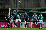 13.01.2021, xtgx, Fussball 3. Liga, VfB Luebeck - SV Waldhof Mannheim emspor, v.l. Anton Donkor (Mannheim, 19), Tommy Grupe (Luebeck, 17) Zweikampf, Duell, Kampf, tackle <br /> <br /> (DFL/DFB REGULATIONS PROHIBIT ANY USE OF PHOTOGRAPHS as IMAGE SEQUENCES and/or QUASI-VIDEO)<br /> <br /> Foto © PIX-Sportfotos *** Foto ist honorarpflichtig! *** Auf Anfrage in hoeherer Qualitaet/Aufloesung. Belegexemplar erbeten. Veroeffentlichung ausschliesslich fuer journalistisch-publizistische Zwecke. For editorial use only.