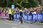 Daniel Felipe Martinez Poveda (COL) in action during the Men Elite Individual Time Trial of the UCI World Championships 2019 running 54km from Northallerton to Harrogate, England. 25th September 2019.<br /> Picture: Eoin Clarke | Cyclefile<br /> <br /> All photos usage must carry mandatory copyright credit (© Cyclefile | Eoin Clarke)