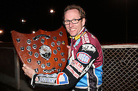 Lakeside Hammers Rider of the Year 2012 Peter Karlsson - Lee Richardson Memorial at the Arena Essex Raceway, Pufleet - 28/09/12 - MANDATORY CREDIT: Rob Newell/TGSPHOTO - Self billing applies where appropriate - 0845 094 6026 - contact@tgsphoto.co.uk - NO UNPAID USE.