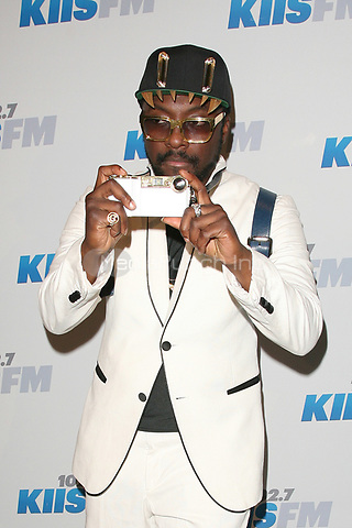 LOS ANGELES, CA - DECEMBER 01: Will.i.am at KIIS FM's 2012 Jingle Ball at Nokia Theatre L.A. Live on December 1, 2012 in Los Angeles, California. Credit: mpi21/MediaPunch Inc.