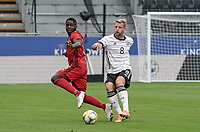 Belgium's Orel Mangala (8) (L) and Germany's captain Arne Maier (8)(R)  in action  during a soccer game between the national teams Under21 Youth teams of Belgium and Germany on the 5th matday in group 9 for the qualification for the Under 21 EURO 2021 , on tuesday 8 th of September 2020  in Leuven , Belgium . PHOTO SPORTPIX.BE | SPP | SEVIL OKTEM