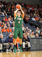 Nov. 12, 2010; Charlottesville, VA, USA;  William & Mary Tribe guard Matt Rum (4) shoots the ball during the game against the Virginia Cavaliers at the John Paul Jones Arena.  Mandatory Credit: Andrew Shurtleff-
