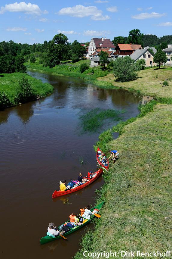 Fluss Abava in Sabile, Lettland, Europa