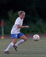 Boston Breakers defender Elli Reed (7) controls the ball at midfield. In a Women's Premier Soccer League Elite (WPSL) match, the Boston Breakers defeated New York Fury, 2-0, at Dilboy Stadium on June 23, 2012.