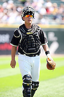 August 15 2008:  Catcher Toby Hall of the Chicago White Sox during a game at U.S. Cellular Field in Chicago, IL.  Photo by:  Mike Janes/Four Seam Images