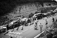 José Gonçalves (POR/Caja Rural-Seguros RGA) fighting his way up the Puerto de la Morcuera (1770m/6,6%/10.4km)<br /> <br /> stage 20: San Lorenzo de el Escorial - Cercedilla (176km)<br /> 2015 Vuelta à Espana