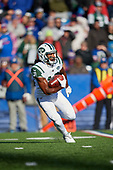 New York Jets Andre Roberts (19) returns a kick during an NFL football game against the Buffalo Bills, Sunday, December 9, 2018, in Orchard Park, N.Y.  (Mike Janes Photography)
