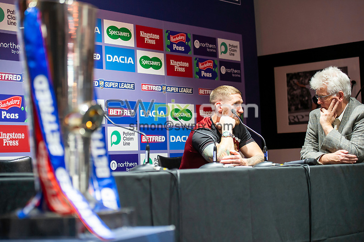 Picture by Allan McKenzie/SWpix.com - 08/10/2018 - Rugby League - Betfred Super League Grand Final Preview - Old Trafford, Manchester, England - Sam Tomkins.