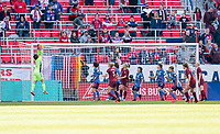 HARRISON, NJ - MARCH 08: Sakiko Ikeda #1 of Japan makes a save during a game between England and Japan at Red Bull Arena on March 08, 2020 in Harrison, New Jersey.