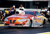 Jun. 2, 2012; Englishtown, NJ, USA: NHRA pro stock driver Jason Line during qualifying for the Supernationals at Raceway Park. Mandatory Credit: Mark J. Rebilas-
