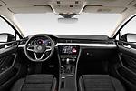 Stock photo of straight dashboard view of 2020 Volkswagen Passat-Variant Elegance-Business 5 Door Wagon Dashboard