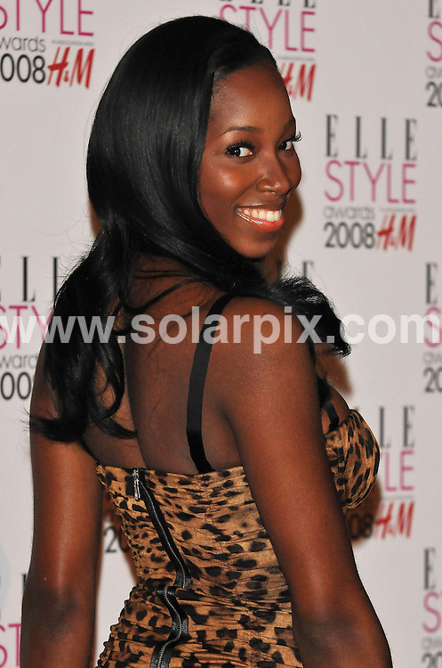 **ALL ROUND PICTURES FROM SOLARPIX.COM**.**WORLDWIDE SYNDICATION RIGHTS**.Celebrities arrive for the Elle Style Awards at The Roundhouse, London. 12th February 2008..This pic: Jamelia..JOB REF: 5777 ATM     DATE: 12_02_2008.**MUST CREDIT SOLARPIX.COM OR DOUBLE FEE WILL BE CHARGED* *UNDER NO CIRCUMSTANCES IS THIS IMAGE TO BE REPRODUCED FOR ANY ONLINE EDITION WITHOUT PRIOR PERMISSION*