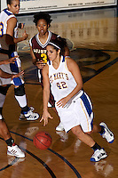 SAN ANTONIO, TX - NOVEMBER 25, 2008: The St. Edward's University Hilltoppers vs. the St. Mary's University Rattlers Women's Basketball at Bill Greehey Arena. (Photo by Jeff Huehn)