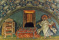 Ravenna: Mosaic--St. Laurence's Martyrdom. Mausoleum of Galla Placidia, 5th century.