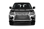 Car photography straight front view of a 2018 Lexus LX 570 5 Door SUV Front View