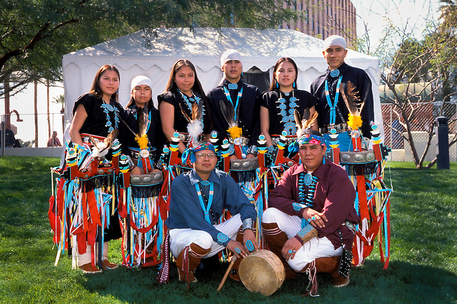The Dineh Tah Dance Group is comprised of Navajo young people practicing their traditional culture