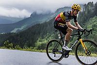 Belgian National Champion Wout Van Aert (BEL/Jumbo Visma) up the Col de la Colombière<br /> <br /> Stage 8 from Oyonnax to Le Grand-Bornand (150.8km)<br /> 108th Tour de France 2021 (2.UWT)<br /> <br /> ©kramon