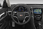 Car pictures of steering wheel view of a 2015 Cadillac ATS 2.0 RWD Premium 2 Door Coupe Steering Wheel