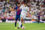 Raphael Varane (l) of Real Madrid fights for the ball with Luis Suarez of FC Barcelona during their Supercopa de Espana Final 2nd Leg match between Real Madrid and FC Barcelona at the Estadio Santiago Bernabeu on 16 August 2017 in Madrid, Spain. Photo by Diego Gonzalez Souto / Power Sport Images