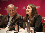 Stewart F. Lane and Leah Lane during a panel for BroadwayHD and the future of capturing stage performances for New Musicals at New York Hilton Midtown on January 13, 2019 in New York City.