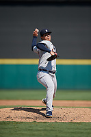 Detroit Tigers pitcher Rodolfo Fajardo (49) during a Florida Instructional League intrasquad game on October 17, 2020 at Joker Marchant Stadium in Lakeland, Florida.  (Mike Janes/Four Seam Images)